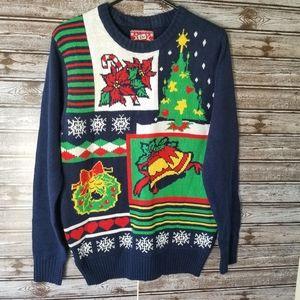 JEM Ugly Christmas Sweater Size M